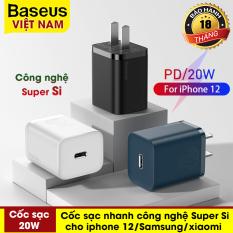 Củ sạc nhanh mini Baseus 20W, công nghệ Super Si đầu sạc PD sạc nhanh cho iPhone 12, iphone 12 promax, Samsung, Huawei, Xiaomi,… – phân phối chính hãng tại Baseus Việt Nam