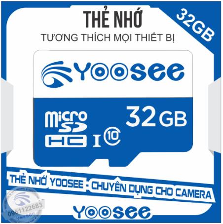[Nhập ELJAN11 giảm 10%, tối đa 200k, đơn từ 99k]Thẻ Nhớ 32GB/ 64GB YooSee Chính Hãng Tốc Độ Cao – Chuyên dụng cho camera và điện thoại