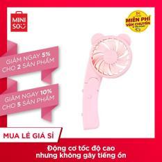 Quạt cầm tay Mini ngọt ngào dễ thương Miniso màu hồng nhạt
