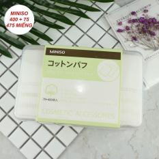 Hộp Bông Tẩy Trang Miniso Nhật Bản 2in1 475 Miếng (400 Miếng 1 Lớp, 75 Miếng 3 Lớp)