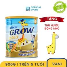 Sữa bột Abbott Grow 6+ 900g Tặng Hươu bông nhỏ