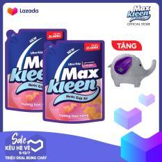 """Combo 2 Túi Nước Giặt Xả Maxkleen Hương Hoa Nắng (2.4kg) + Tặng """"Voi bông"""""""