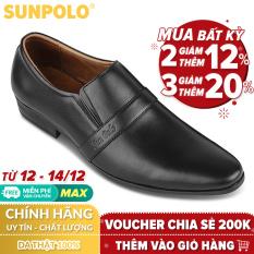Giày Tây Nam Da Bò SUNPOLO MU07DN (Đen, Nâu)