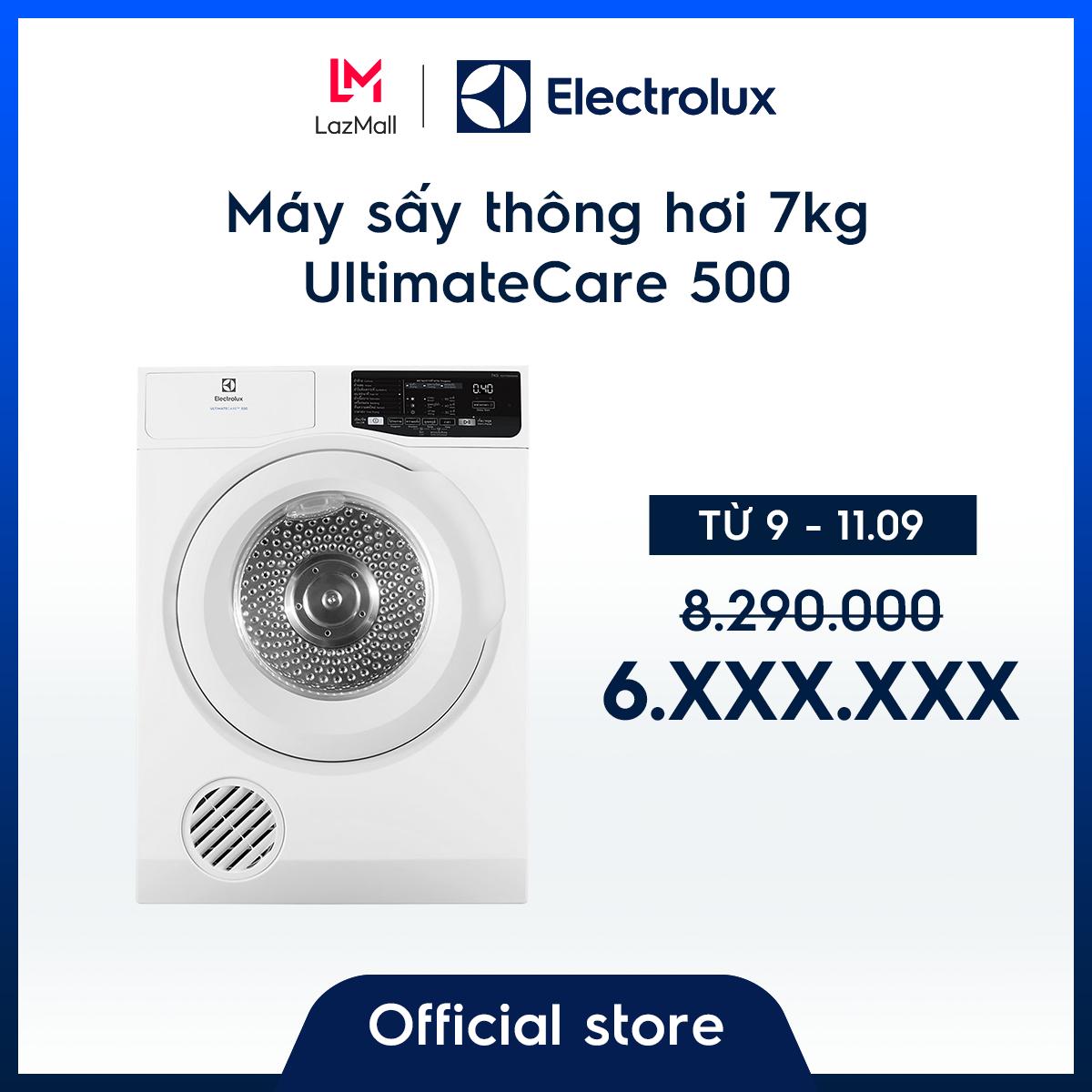 [Miễn phí lắp đặt – Giao hàng HCM & HN] Máy sấy thông hơi Electrolux 7kg UltimateCare 500 EDV705HQWA – Màu Trắng –