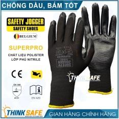 Găng tay chống dầu Jogger Superpro 4121 găng tay đa năng, ôm tay chống bụi, chống trơn trượt (đen)
