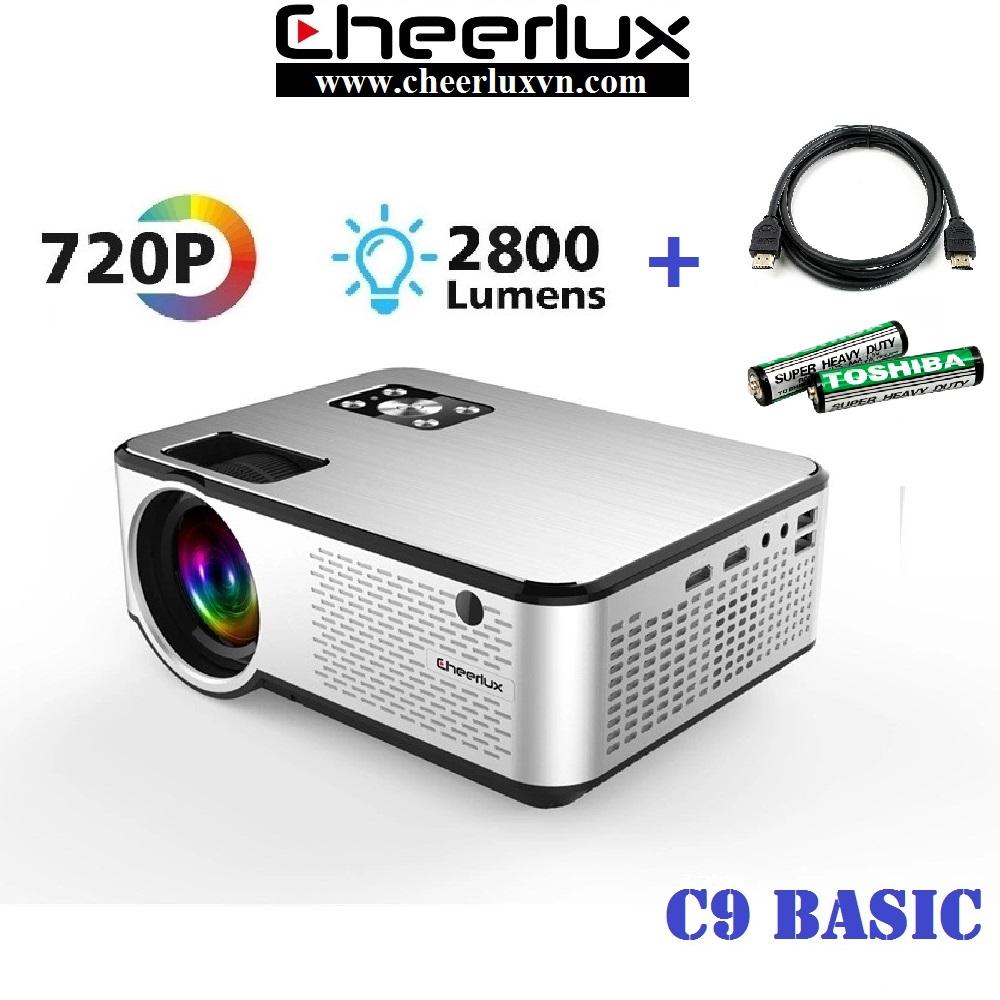 Máy chiếu phim mini projector Cheerlux C9 HD độ sáng 2800 lumens âm thanh cực hay xem 100 inch cực...