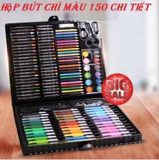 Bút Chì Sáp, Bút Vẽ Màu Nước, Hộp Bút Chì Màu 150 Chi Tiết An Toàn Cho Bé Sản Phẩm Chất Lượng Cao Bảo Hành Uy Tín