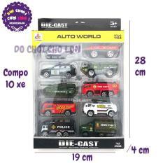 Bộ 10 Xe Canh Sát Bằng Sắt Auto World DS892, Kiểu Dáng Sinh Động, Thiết Kế Đẹp Mắt, Màu Sắc Đa Dạng