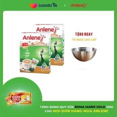 Bộ 2 Hộp sữa bột Anlene Vị Cà phê hộp 310g Tặng Tô inox