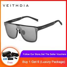 VEITHDIA Fashion Retro Aluminum Sunglasses Polarized Eyewear Accessories Sun Glasses For Men 6881