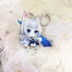 ( Mica trong acrylic) Móc khóa Azur Lane ver cute in hình anime chibi