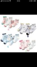 408-1# Sét 5 đôi tất cotton hàng quảng châu -CAO CẤP chất dày dặn-cho bé từ 0-6 tuổi