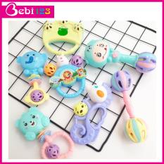 Bộ đồ chơi 7 món xúc xắc lục lạc nhiều màu sắc cho bé