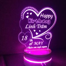 Đèn ngủ Led 3D khắc theo yêu cầu – quà tặng quà sinh nhật độc đáo và ý nghĩa
