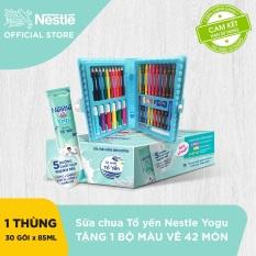 Thùng 30 Gói Sữa chua uống dinh dưỡng Nestlé YOGU (85ml/gói) + Tặng 1 bộ bút chì 42 màu – Giới hạn 5 sản phẩm/khách hàng