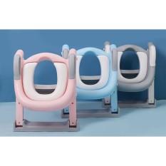Nắp bồn cầu có thang đi vệ sinh cho bé