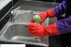 Găng tay rửa bát cao su lót nỉ