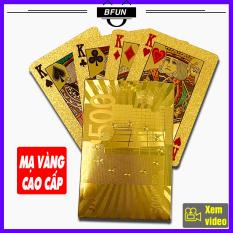 Bài Tây Mạ Vàng 24K Cao Cấp – Bộ Bài Tây 52 Lá Poker – Bài 52 Lá Đẹp Ảo Thuật – Bài Nhựa Chống Nước – Bài Tiến Lên – Đồ Chơi Trẻ Em BFUN