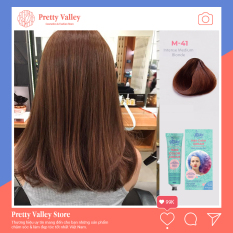 Kem nhuộm tóc cao cấp màu nâu tây Molokai 60ml [ TẶNG KÈM GĂNG TAY + CHAI OXY TRỢ DƯỠNG TÓC ]