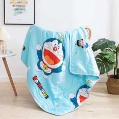 Mền chăn đũi cotton hoạt hình 2 mặt 110cm x 150