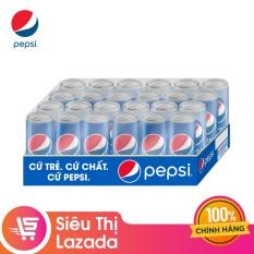 Thùng 24 Lon Nước Ngọt Có Gas Pepsi (330ml/Lon)