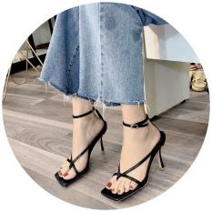 Giày sandal cao gót nữ 7p xỏ ngón chữ V cá tính siêu hot