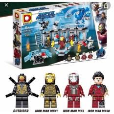 Đồ chơi xếp hình siêu anh hùng phòng lab chứa giáp của người sắt ironman dlp2503, chất liệu an toàn cho sức khỏe trẻ nhỏ, cho trẻ thỏa thích vui chơi và sáng tạo