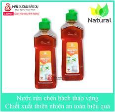Bộ 2 chai Nước rửa chén Bách Thảo vàng hương quế chiết xuất thiên nhiên không hại da tay – Chai 500g