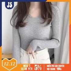 Áo len cổ chữ V – Áo vải len chất siêu đẹp – Áo len tay dài