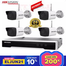 [Trả góp 0%]Trọn bộ 4 camera IP Wifi không dây Hikvision NK42W0 chính hãng Full HD 1080p – Bảo hành 2 năm