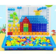 Bộ xếp hình sáng tạo loại 296 đinh nấm cho bé Creative Mosaic