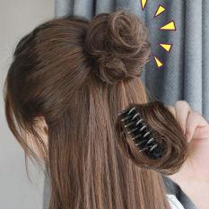 Tóc giả búi tròn mini, búi tròn tóc giả mini B05