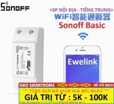 Công tắc thông minh Sonoff Basic (SP Nội Địa – Tiếng Trung) điều khiển từ xa qua WIFI, 3G, 4G