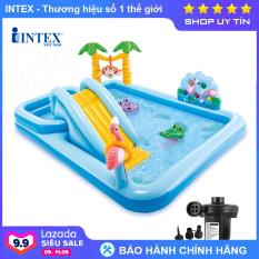 Bể bơi phao cầu trượt có vòi phun mưa INTEX 57161 – Hồ bơi cho bé mini, Bể bơi phao trẻ em