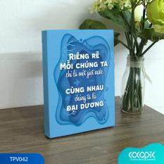 Tranh để bàn canvas slogan tạo động lực trang trí văn phòng Cocopic TPV019 – TPV046 24 mẫu tùy chọn