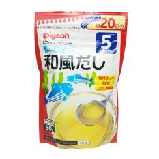 Bột Dashi Pigeon 50g Vị Rong Biển Cá Ngừ Nhật Bản Cho Bé 5 Tháng, Bột Dashi Cho Bé Ăn Dặm, Nước Dùng Dashi, Bột Dashi Nhật Bản, Ăn Dặm Kiểu Nhật