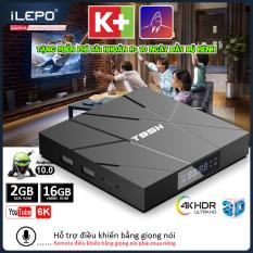 Tivi box, tv box, đầu android tivi box android 10.0 mới, bộ nhớ 16G, ram 2G, tặng tài khoản miễn phí FLYSHARK xem phim HD 4K, xem nhiều kênh truyền hình giải trí, bảo hành 12 tháng T95H