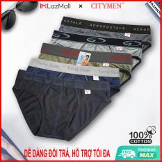 Combo 5 Quần Lót Nam cao cấp   nhiều lưng   quần xì   xịp, sịp nam   vải cotton 2 chiều   CITYMEN   đồ lót