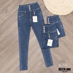Quần jean nữ ôm màu xanh thời thượng Hot trend cực đẹp VIOLET SHOP #204