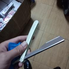 Dao cạo râu tóc gấp gọn thu gọn thay thế được đầu lưỡi | Dao cạo râu kim loại inox cán nhựa tiệm cắt tóc lưỡi dao lam gập lại được