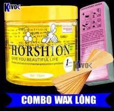 Gel Wax Lạnh Horshion Mật Ong + Miếng Giấy Wax 100 TỜ + Que wax lông – Tẩy Lông Lạnh Cho Chân Tay Nách Cơ Thể