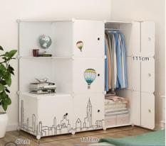 tủ quần áo nhiều ngăn bằng nhựa siêu bền và tiện dụng 002