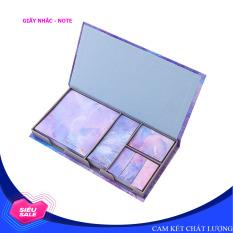 Hộp giấy nhớ, ghi chú, giấy note, giấy giao việc kiểu Hàn Quốc – Có hộp nhựa (480 giấy) – Nhiều màu