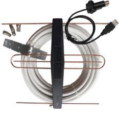Anten dùng cho tivi tích hợp loại có mạch khuếch đại+Dây cáp đồng trục+Jack nối anten+Bộ cấp nguồn cho anten