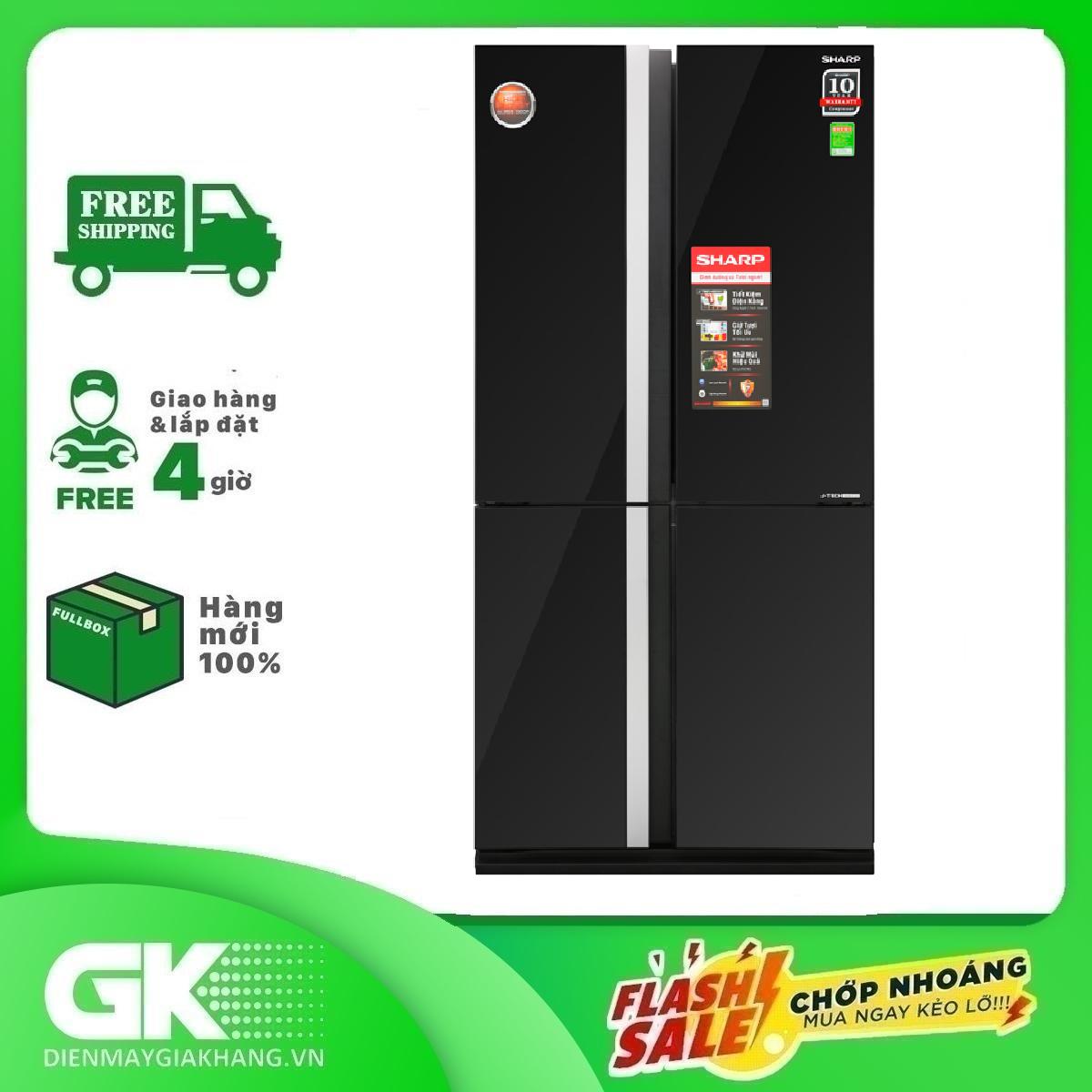 Tủ lạnh Sharp Inverter 605 lít SJ-FX688VG-BK Mẫu 2019