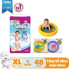 [KÈM QUÀ] Tã/Bỉm quần Bobby (hương trà xanh) gói siêu lớn XL-48 miếng (12 – 17kg) – Tặng 1 hồ phao bơi mini (họa tiết ngẫu nhiên)