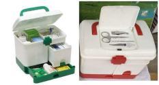 Tủ thuốc cấp cứu, hộp thuốc gia đình bằng nhựa – Tủ thuốc y tế gia đình, Hộp thuốc thiết kế thông minh, tiện dụng, màu sắc sang trọng, Đồ dùng cần thiết cho các gia đình