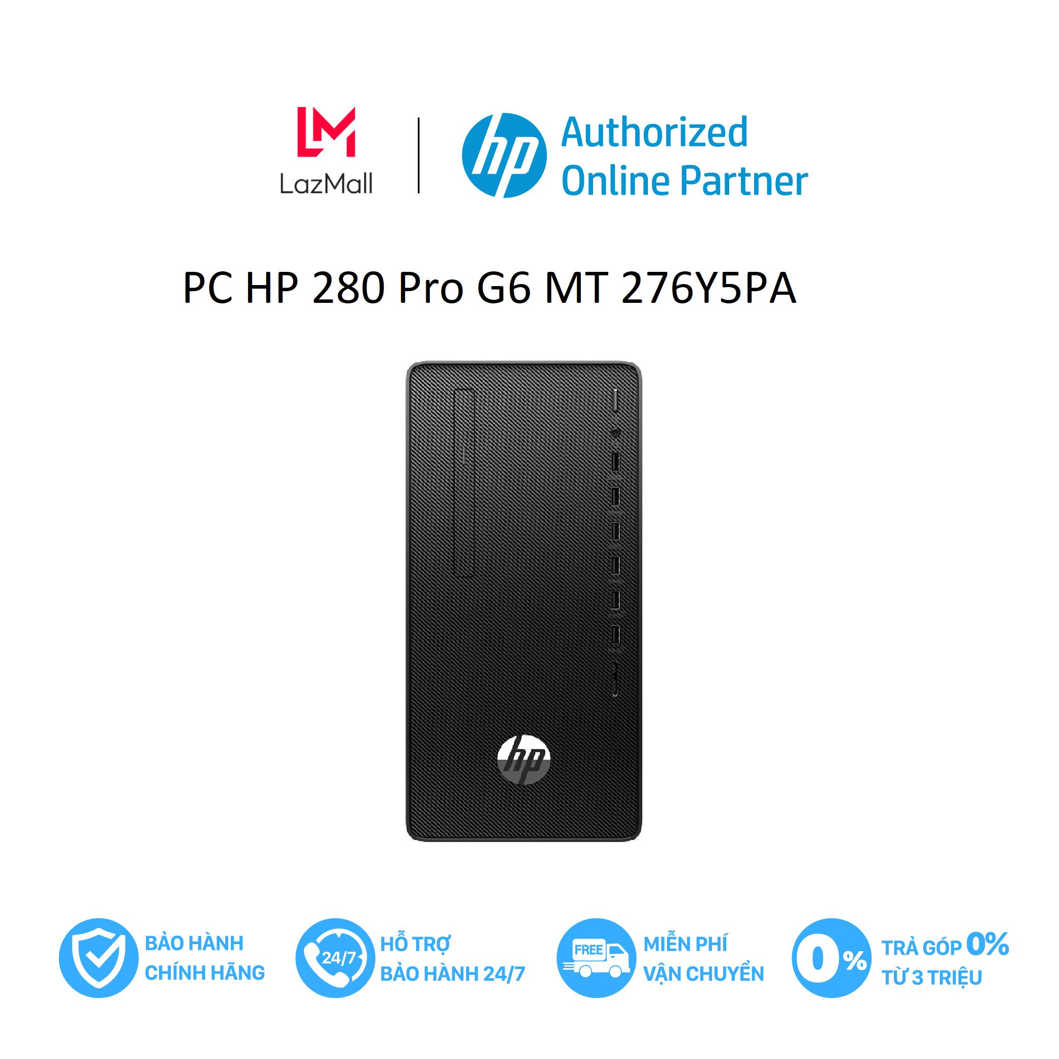 Máy tính để bàn HP 280 Pro G6 MT/ i7-10700-2.9G/ 8G/ 256G SSD/ DVDRW/ WL+BT/ W10/276Y5PA