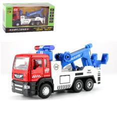 Xe cảnh sát cứu hộ mô hình đồ chơi cho trẻ em tỉ lệ 1:50 xe chạy cót có âm thanh và đèn