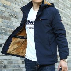 Áo khoác nam đại hàn, 3 lớp lót lông siêu ấm, áo khoác chống nước, giữ nhiệt